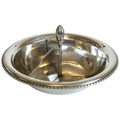 Georg Jensen Sterling Silver Bowl with Non Removable Three Divider No 290