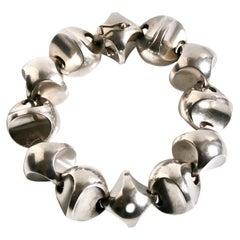 Georg Jensen Sterling Silver Bracelet Designed by Flemming Eskildsen 125