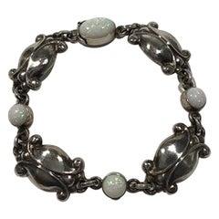 Georg Jensen Sterling Silver Bracelet No 11 Opal Measures