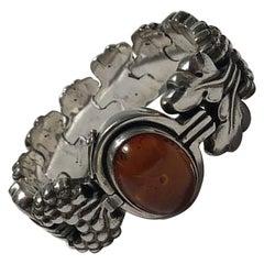 Georg Jensen Sterling Silver Bracelet No 30 Amber, Paris