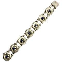 Georg Jensen Sterling Silver Bracelet No 36 with Lapis Lazuli