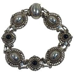 Georg Jensen Sterling Silver Bracelet No 419 'Black Onyx'