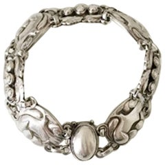 Georg Jensen Sterling Silver Bracelet with Doves No 24
