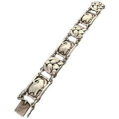 Georg Jensen Sterling Silver Bracelet with Swans No. 42