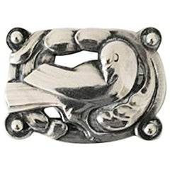 Georg Jensen Sterling Silver Brooch with Dove #209