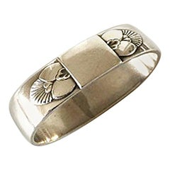 Georg Jensen Sterling Silver Cactus Napkin Ring No 81A