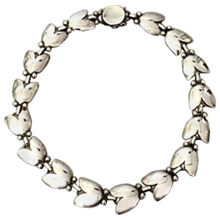 Georg Jensen Sterling Silver Choker Necklace No 66