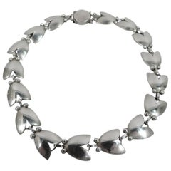 Georg Jensen Sterling Silver Classic Tulip Necklace