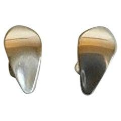 Georg Jensen Sterling Silver Clip-On Earrings No 128B