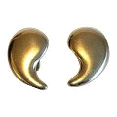 Georg Jensen Sterling Silver Clip-On Earrings No 397