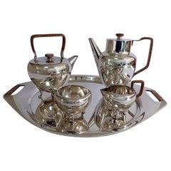 Georg Jensen Sterling Silver Coffee Pot Tea Pot, Sugar Bowl, Creamer No 960