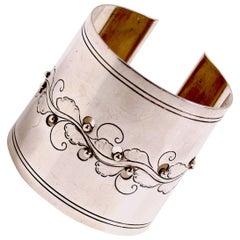 Georg Jensen sterling silver cuff designed by Harald Nielsen