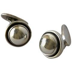 Georg Jensen Sterling Silver Danish Modern 44D Cufflinks