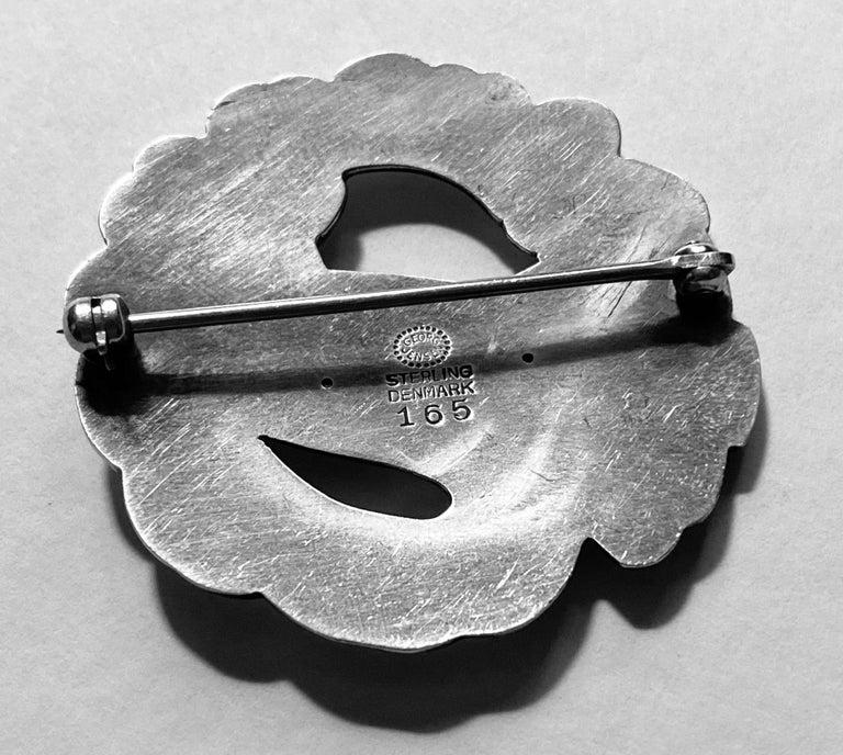 Women's or Men's Georg Jensen Sterling Silver Dove Brooch For Sale