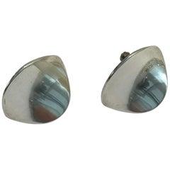 Georg Jensen Sterling Silver Ear Rings No 131
