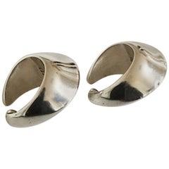 Georg Jensen Sterling Silver Earrings by Nanna Ditzel No126