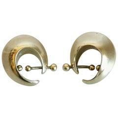 Georg Jensen Sterling Silver Earrings by Nanna Ditzel No126 Gold-Plated