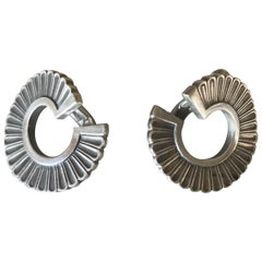 Georg Jensen Sterling Silver Earrings No. 92 by Jorgen Jensen