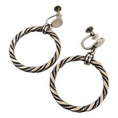 Georg Jensen Sterling Silver Earrings 'Screws'