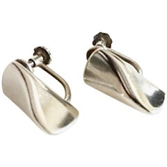 Georg Jensen Sterling Silver Earrings 'Screws' No 116A