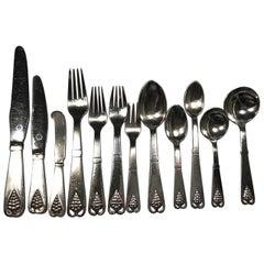 Georg Jensen Sterling Silver Flatware No 19 '137 Pcs' Set Comprises of 12 Person