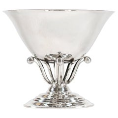 Georg Jensen Sterling Silver Handcrafted Footed Bowl No 6 by Johan Rohde
