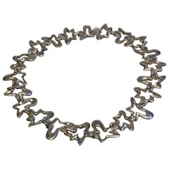Georg Jensen Sterling Silver Henning Koppel Splash Necklace No 88B