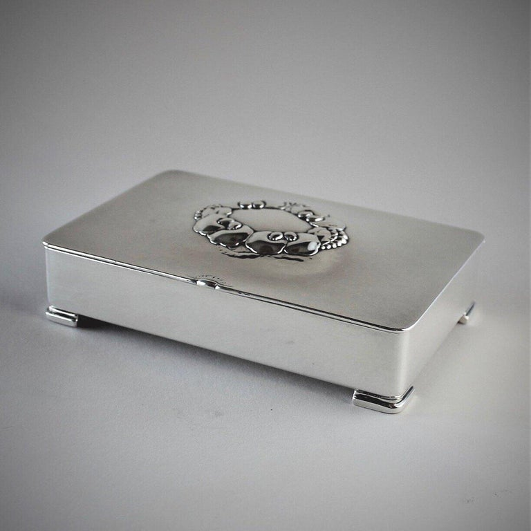 Danish Georg Jensen Sterling Silver Keepsake Box, No. 507B by Gundorph Albertus For Sale