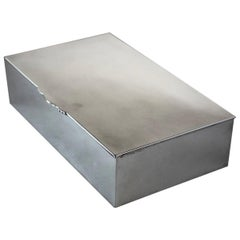 Georg Jensen Sterling Silver Large and Heavy Cigar Box, No.638 by Gundorph Alber