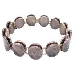 Georg Jensen Sterling Silver Link Bracelet Denmark Estate Find