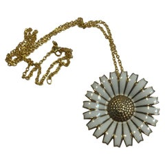 Georg Jensen Sterling Silver Marguerit 'Daisy' Necklace 'Brooch'