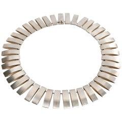 Georg Jensen Sterling Silver Necklace Designed by Arno Malinowski, circa 1969