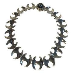 Georg Jensen Sterling Silver Necklace No 130B Hematite