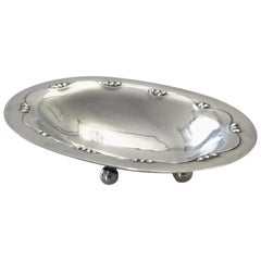 Georg Jensen Sterling Silver Oval Ash Tray No 243