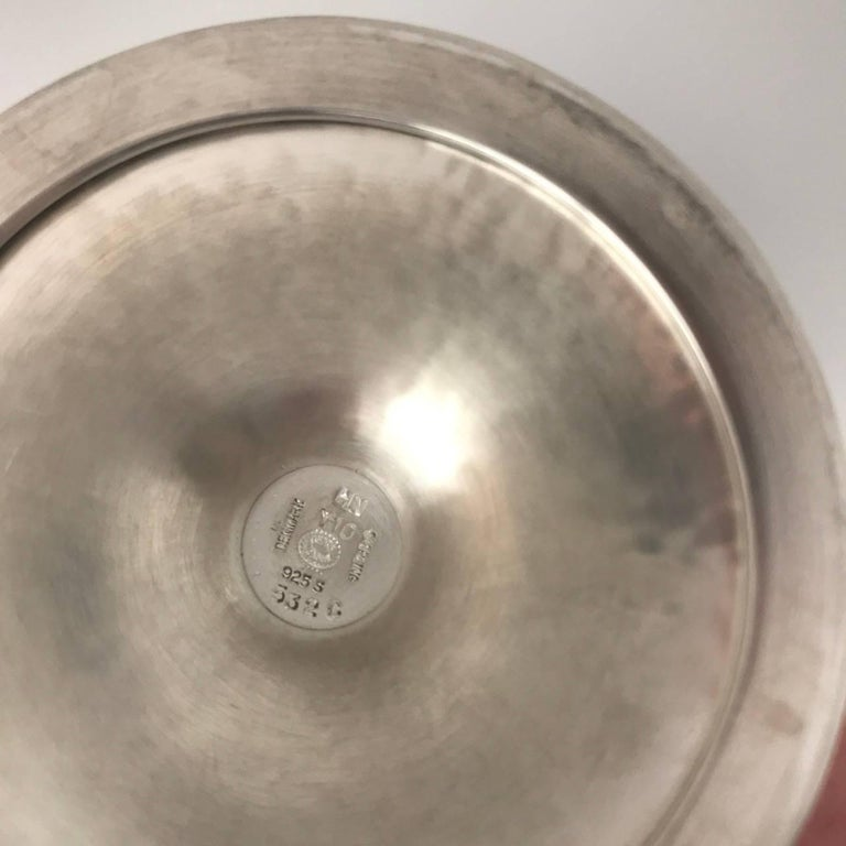 Georg Jensen Sterling Silver Pair of Goblets, No. 532C In Excellent Condition For Sale In San Francisco, CA