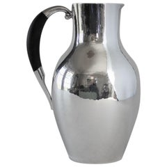Georg Jensen Sterling Silver Pitcher with Ebony Handle, No.743 by Johan Rohde