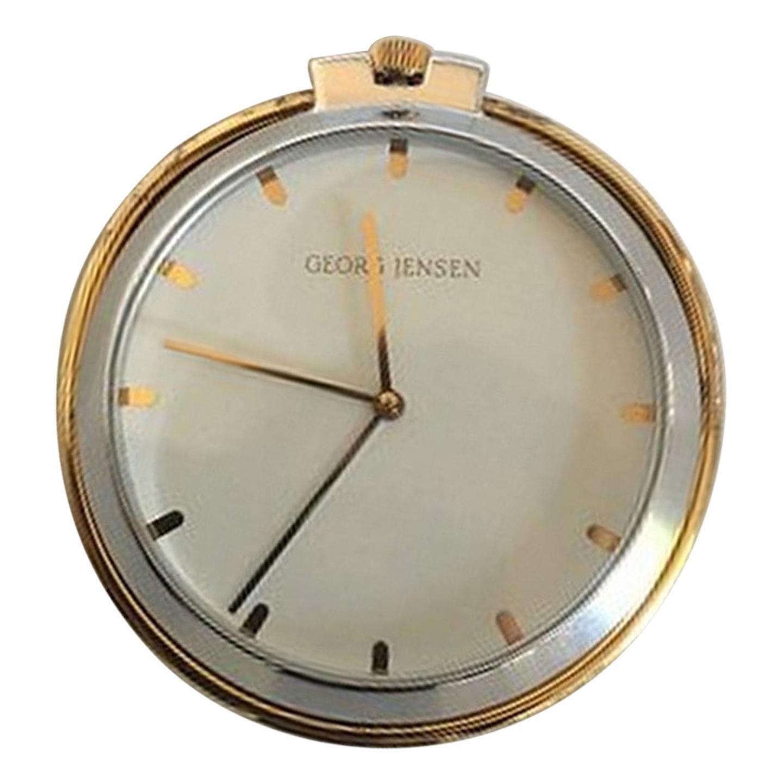 Georg Jensen Sterling Silver Pocket Watch No. 355 Designed by Lene Munthe