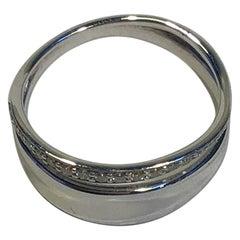 Georg Jensen Sterling Silver Ring 0.17 Carat Marcia No 618B