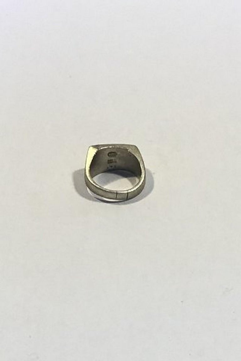 Georg Jensen Sterling Silver Ring No 141 Satin Finish Ring Size 55 US 7 1/4 Weight 11.6 gr/0.41 oz