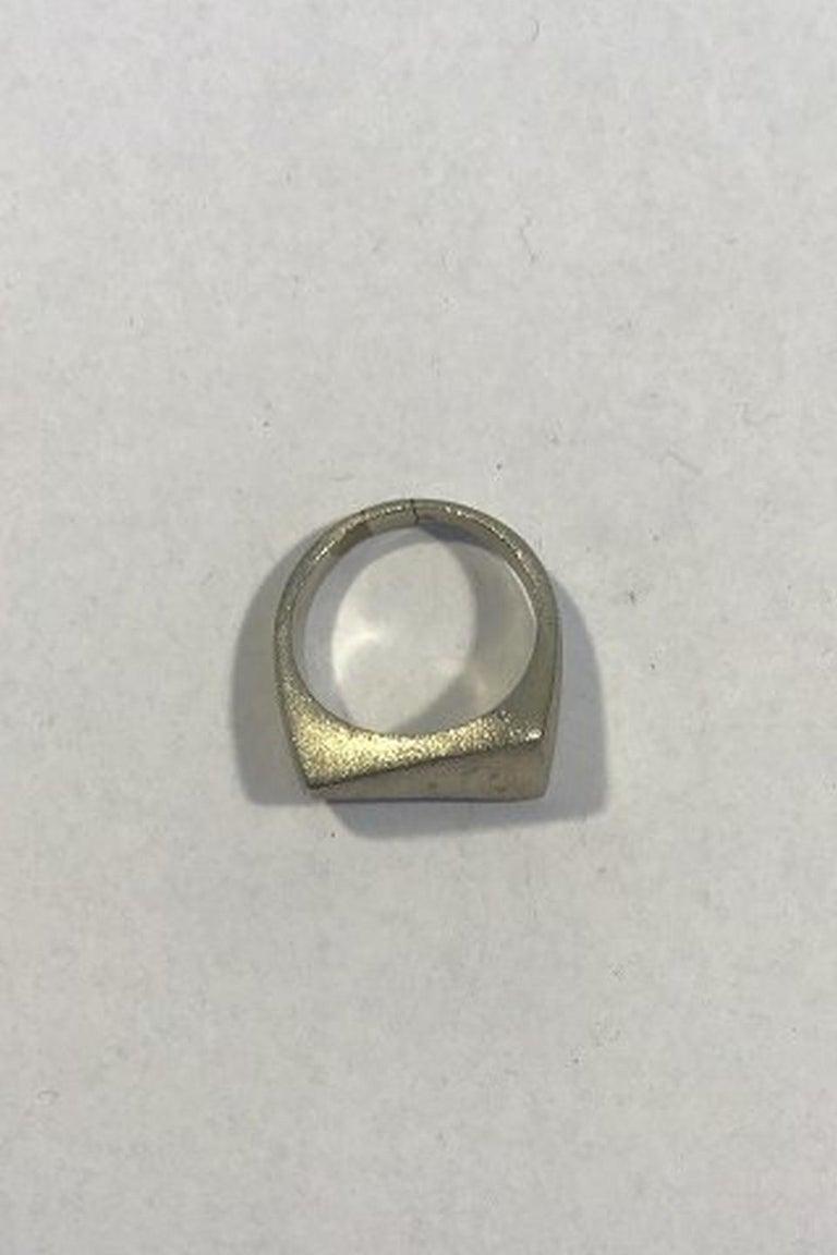 Modern Georg Jensen Sterling Silver Ring No 141 For Sale