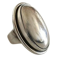 Georg Jensen Sterling Silver Ring No 46E with Silver Stone
