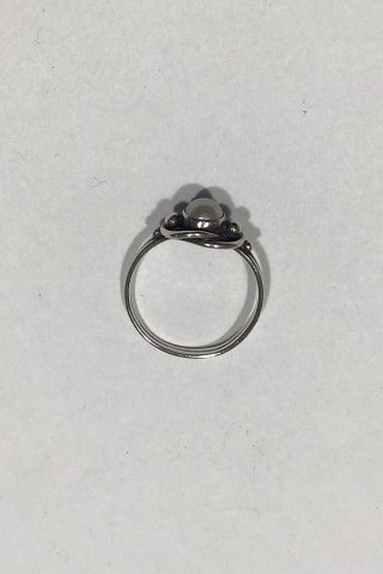 Georg Jensen Sterling Silver Ring No 91 Søren Georg Jensen  Measures Diam 1.7 cm(0 43/64 in)  Combined Weight 15.3 gr/0.54 oz