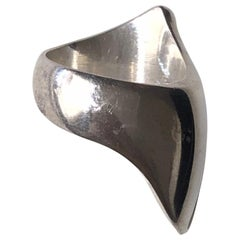 Georg Jensen Sterling Silver Ring No. 91 by Nanna Ditzel(Size 6)