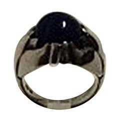 Georg Jensen Sterling Silver Ring with Lapis Lazuli