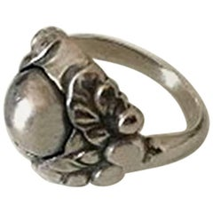 Georg Jensen Sterling Silver Ring with Silver Stone No 11B from 1945-1951
