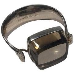 Georg Jensen Sterling Silver Rutile Quartz Arm Ring No 203 Torun