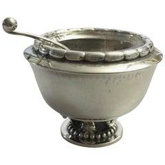Georg Jensen Sterling Silver Salt Dish #236 with Spoon #130