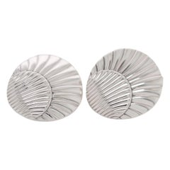 Georg Jensen Sterling Silver Sea Shell Cufflinks No. 66