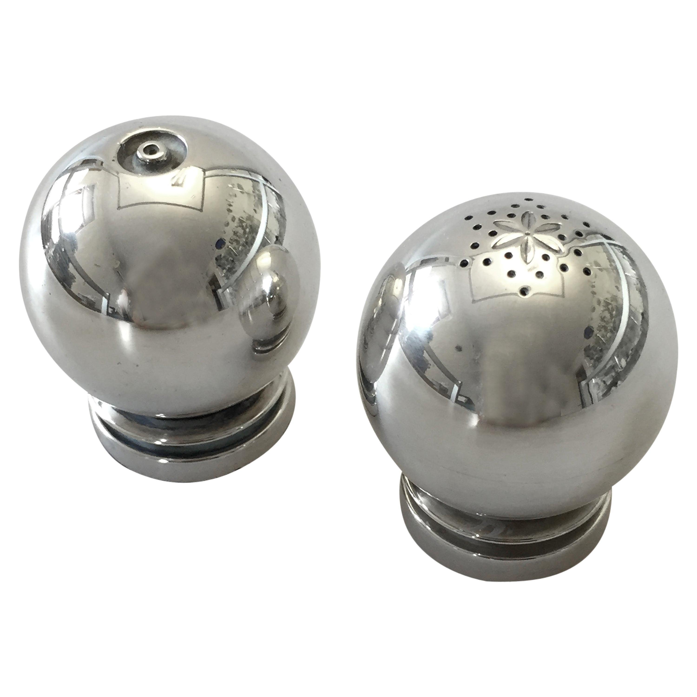 Georg Jensen Sterling Silver Set of Salt and Pepper Shaker