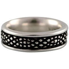 Georg Jensen Sterling Silver Stamped Ring